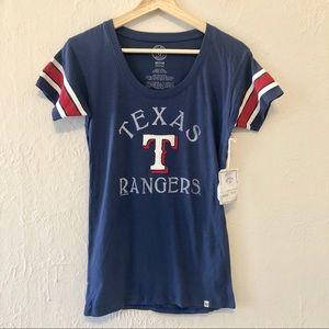 Forty Seven Brand Tops - Texas Rangers Official Team Tee Shirt